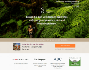 landing page hotel san roque